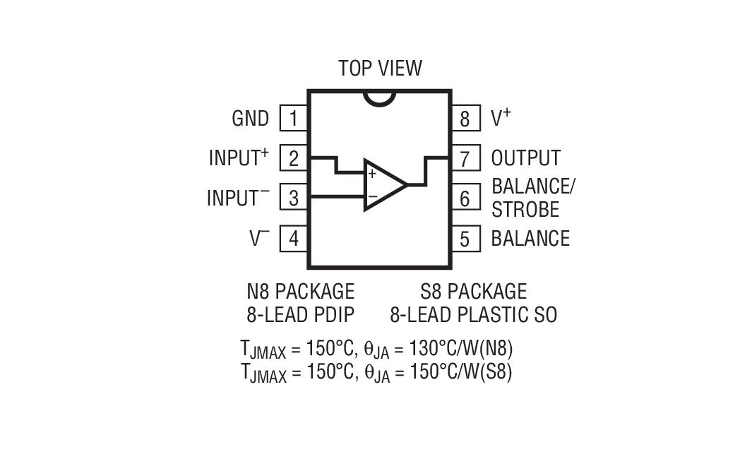 lt1011amj8是电压比较器