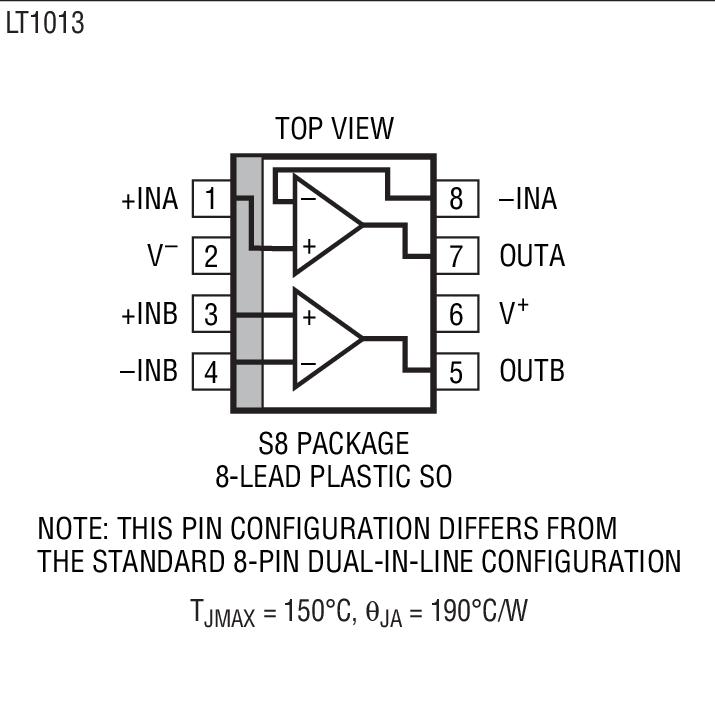 lt1013amh是双通道精准运算放大器