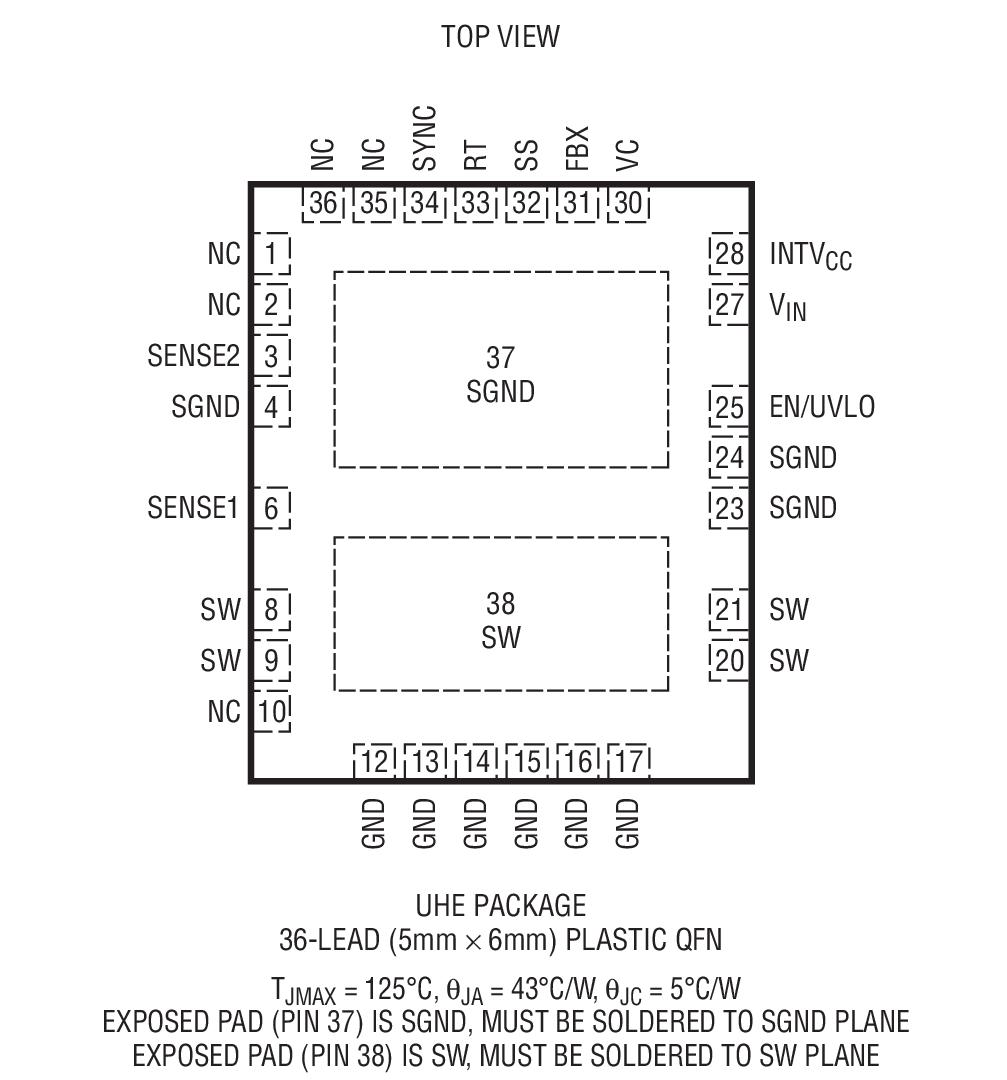lt3958是高输入电压,升压,反激式,sepic 和负输出转换