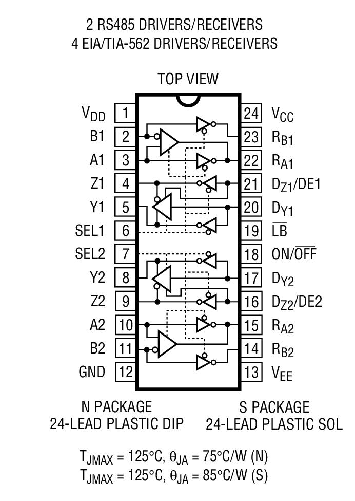 ltc_ltc1321是rs232/eia562/rs485