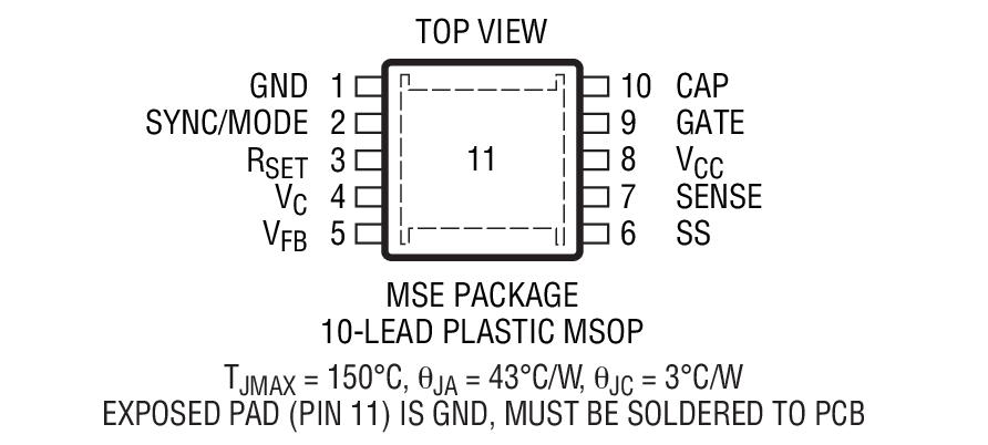 LTC3824 是一款降压型 DC/DC 控制器,专为驱动一个外部 P 沟道 MOSFET 而设计。凭借一个 4V 至 60V 的宽输入范围和一个高电压栅极驱动器,LTC3824 成为许多工业和汽车高功率应用的合适之选。恒定频率电流模式操作实现了卓越的性能。 LTC3824 可以被配置为执行突发模式操作。突发模式操作提升了低电流效率 (静态电流仅为 40μA),并延长了电池的运行时间。开关频率可以设置为高达 600kHz,并可容易地实现同步。 其他功能包括电流限制、软起动、微功率停机和突发模式停用。